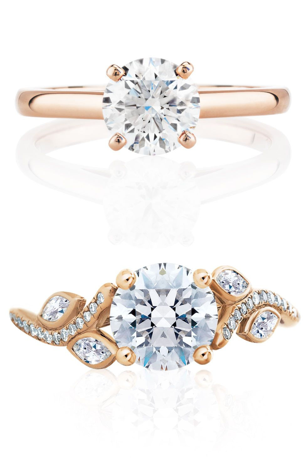 rose gold engagement rings to shop this engagement season rose