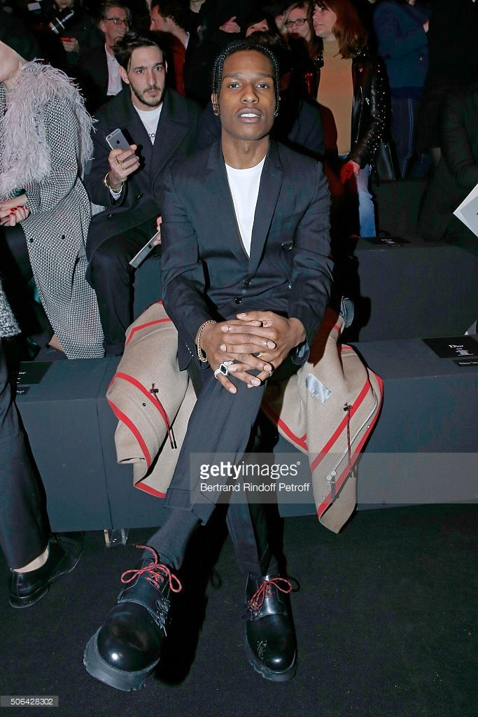 Rapper ASAP Rocky attends the Dior Homme Menswear Fall/Winter 2016-2017  show:
