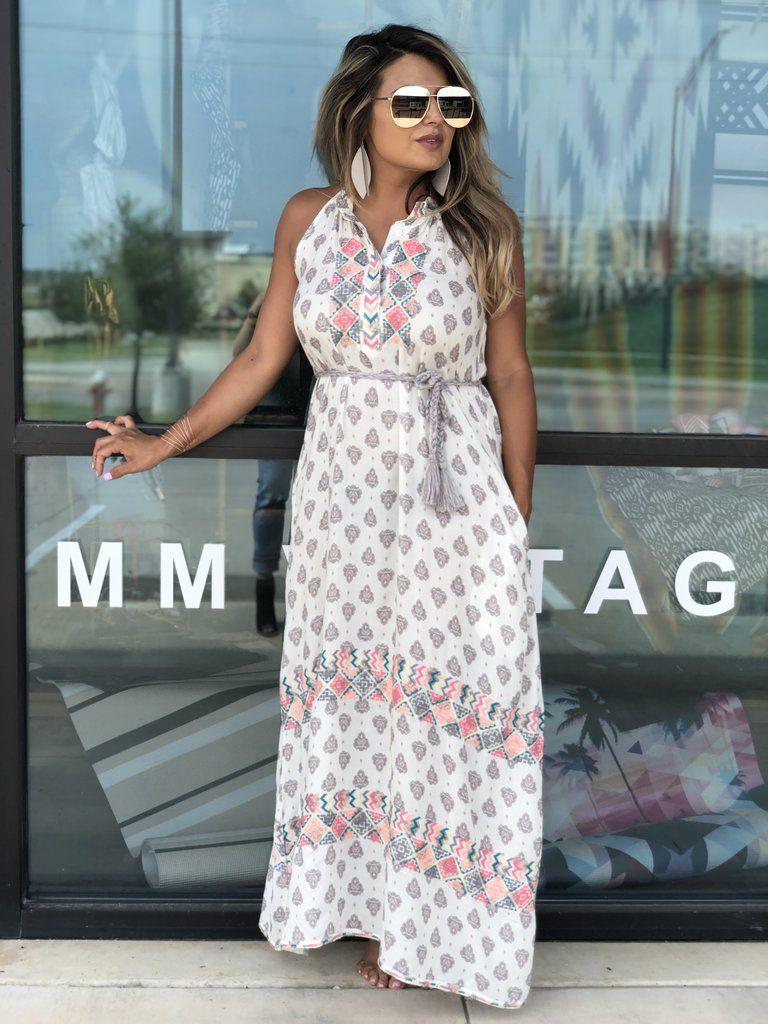 7b0e597b7 Aratta Boho 'Avery' Embroidered Maxi Dress XS-XL  www.DustyDiamondsBoutique.com