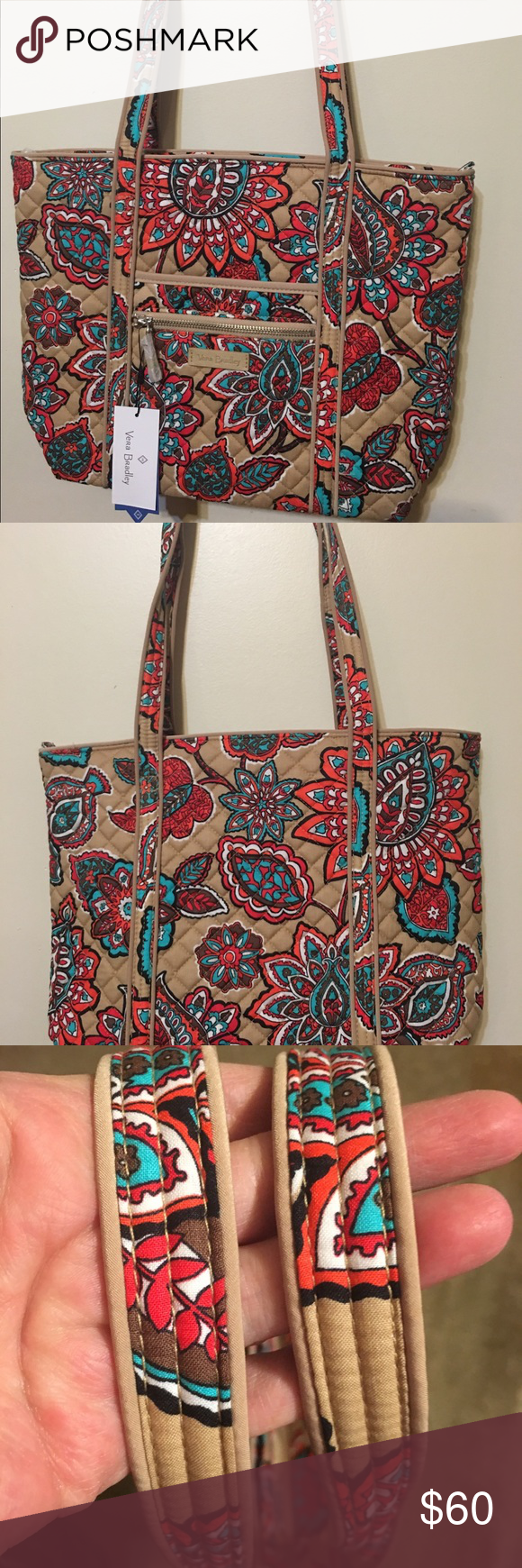 142514cd6f Vera Bradley Iconic Small Vera Tote Nwt and new pattern Desert Floral.  Strap drop 12