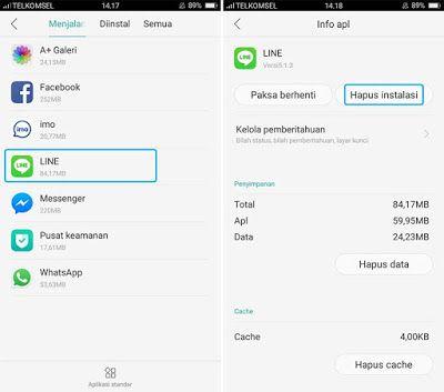 Menghapus Aplikasi Android Komputer Smartphone