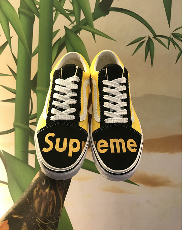 5c3632158a Pinterest   CxrtifiedCxmille VANS OLD SCHOOL X SUPREME PRINTED CUSTOM MADE  SKATING SNEAKER
