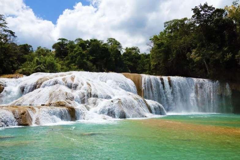 Las Cascadas de Agua Azul, Chiapas, México