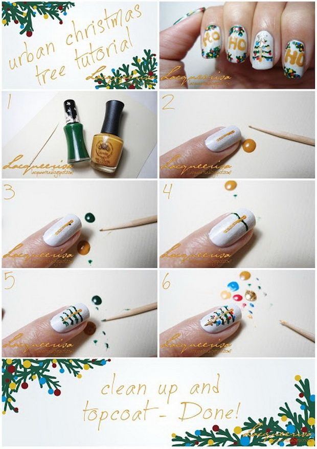 Nice Christmas Nails Tutorial Images - Nail Paint Design Ideas ...