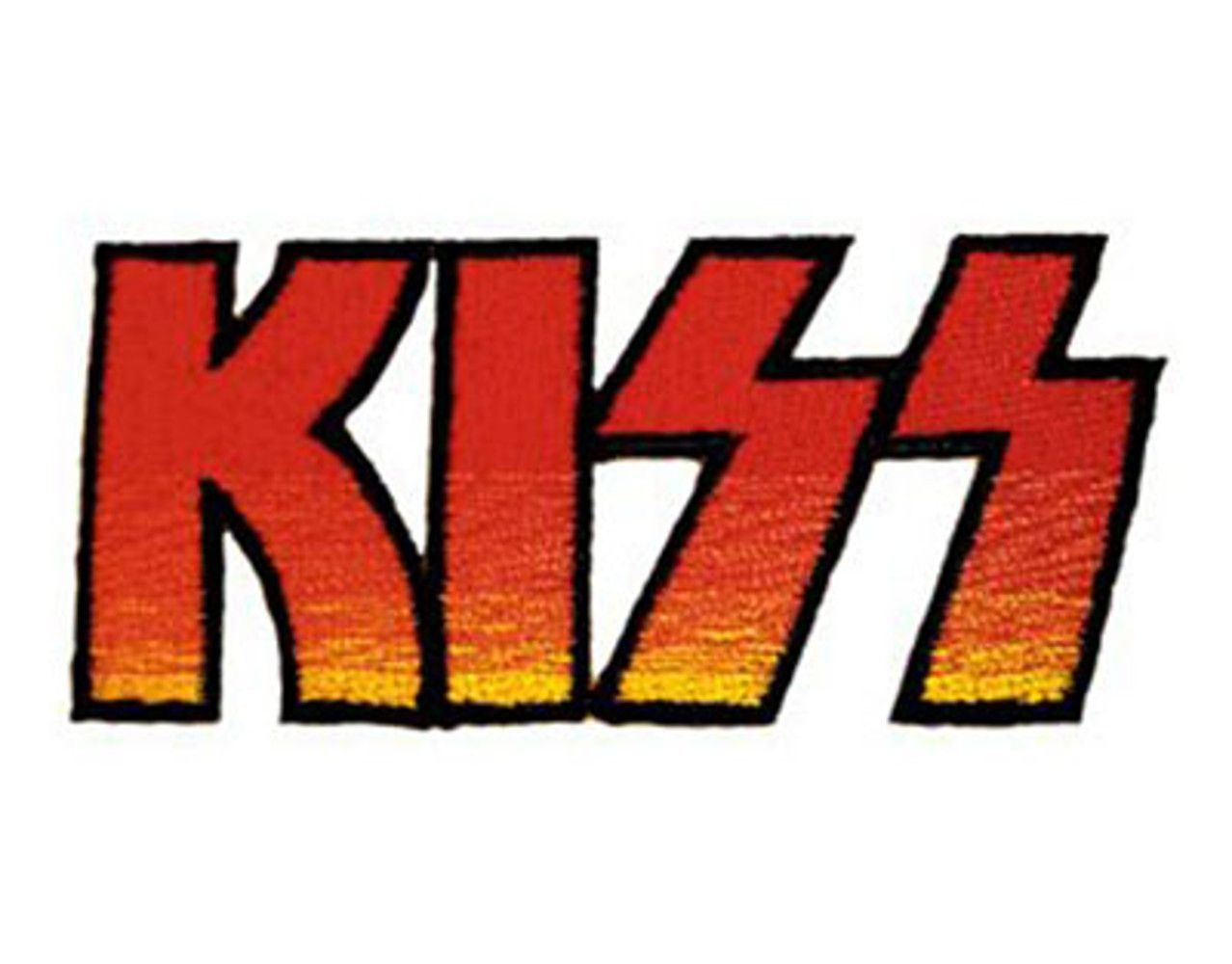 kiss logo shaped official patch licensed product free shipping rh pinterest co uk hershey kiss logo font kiss logo font free