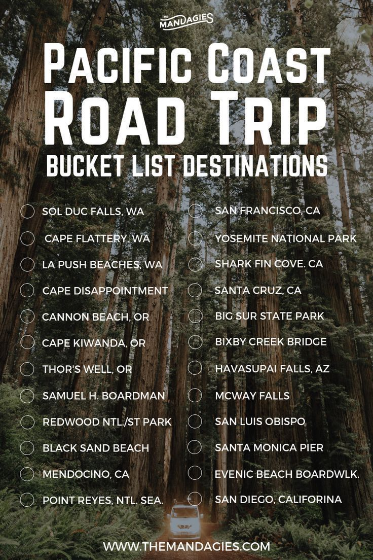 25 Amazing Stops On A 1-Week Pacific Coast Highway Road Trip Itinerary – The Mandagies