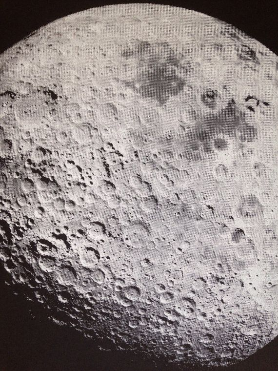 Moon Screenprint Lunar Space 12x18 Coffee Gift In 2020 Screen Printing Coffee Gifts Moon