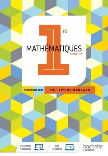 Mathematiques 1re Barbazo Hachette Manuel En Usage Au Lycee Book Cover Design Math Ebook Pdf