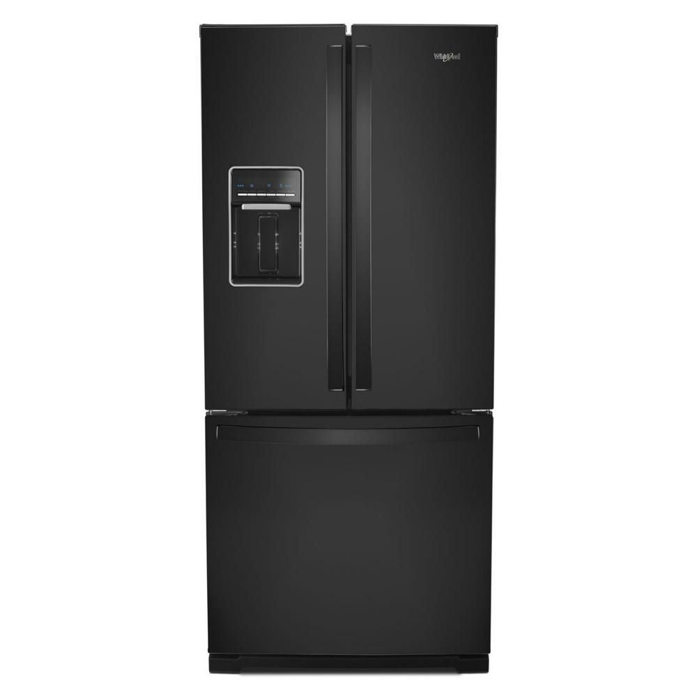 Whirlpool 20 Cu Ft French Door Refrigerator In Black Wrf560sehb