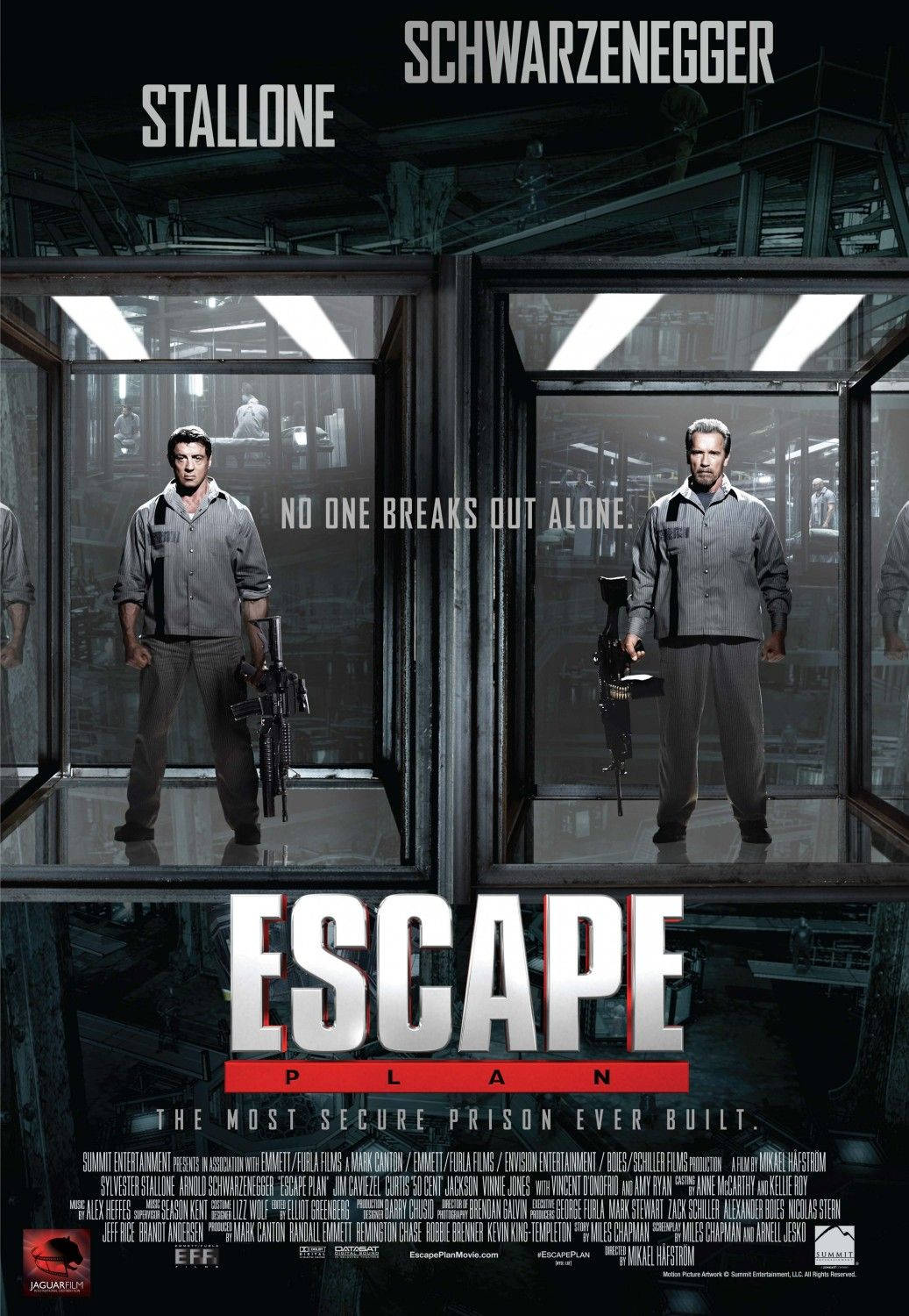 2 new escape plan movie posters with stallone