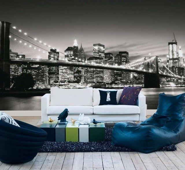 Papier peint New York pour un intérieur moderne et original Salons - papier peint pour chambre a coucher