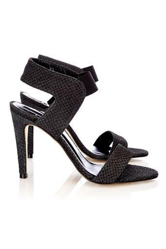 Black Leather Sandal  #MyChristmasStory