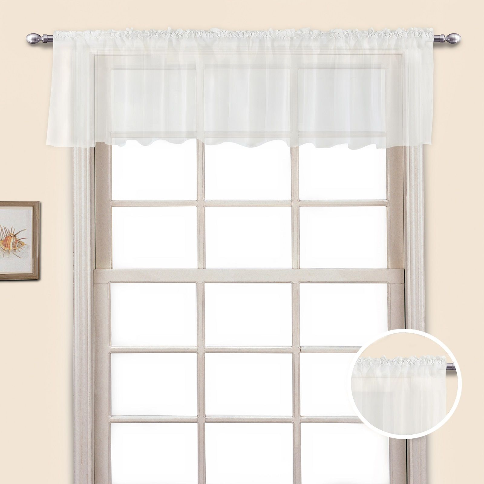 United Curtain Company Monte Carlo 60 X 14 Straight Valance