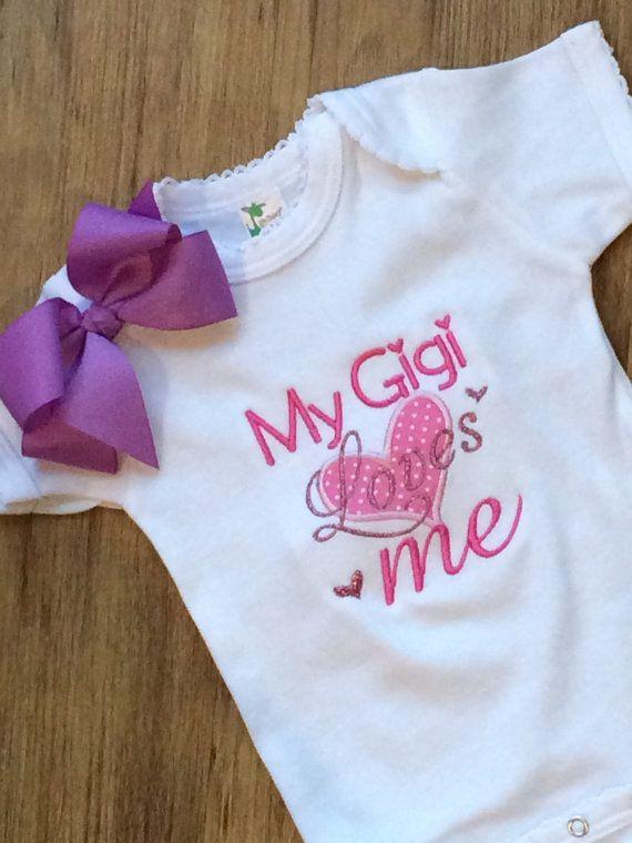 4e71a3df5 Gigi bodysuit, gigi loves me, I love Gigi, Gigi baby gift | It's A ...