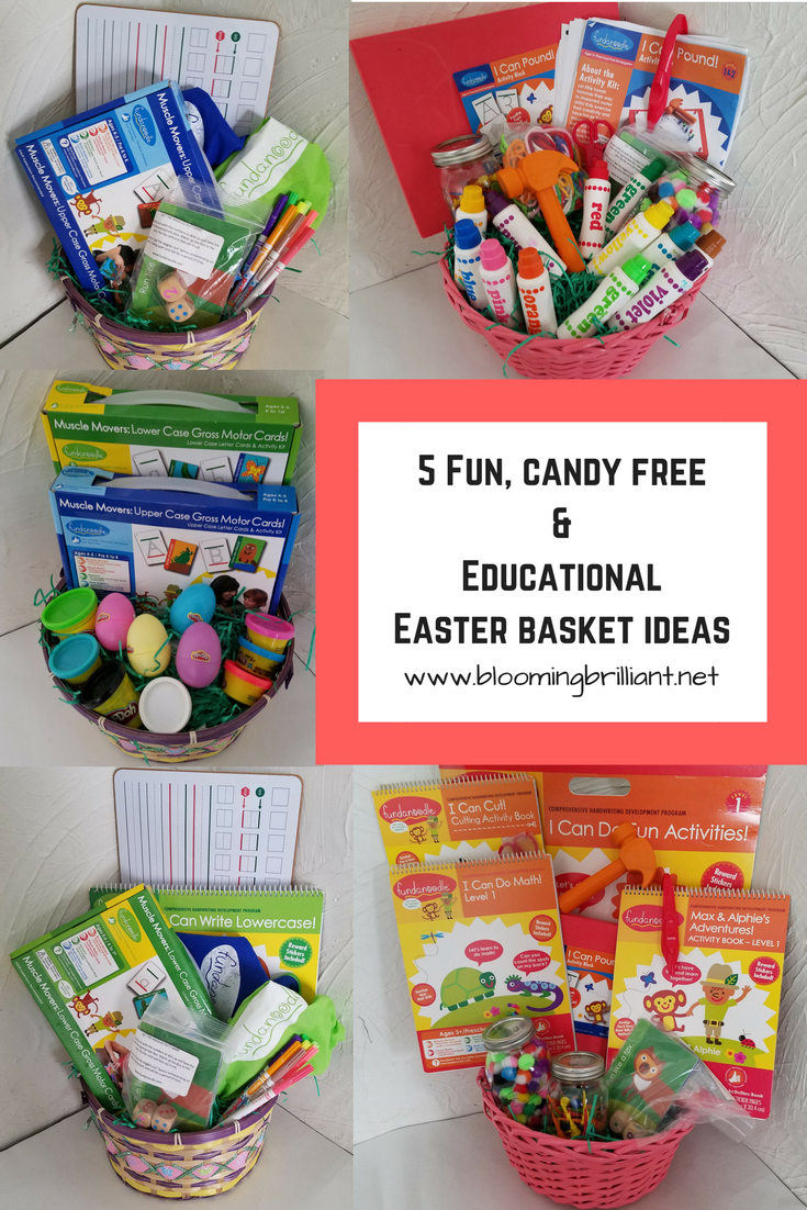 Loving these educational and fun candy free easter baskets help your children celebrate easter with these candy free easter baskets ideas with help from fundanoodle and their motor skill development toys negle Images