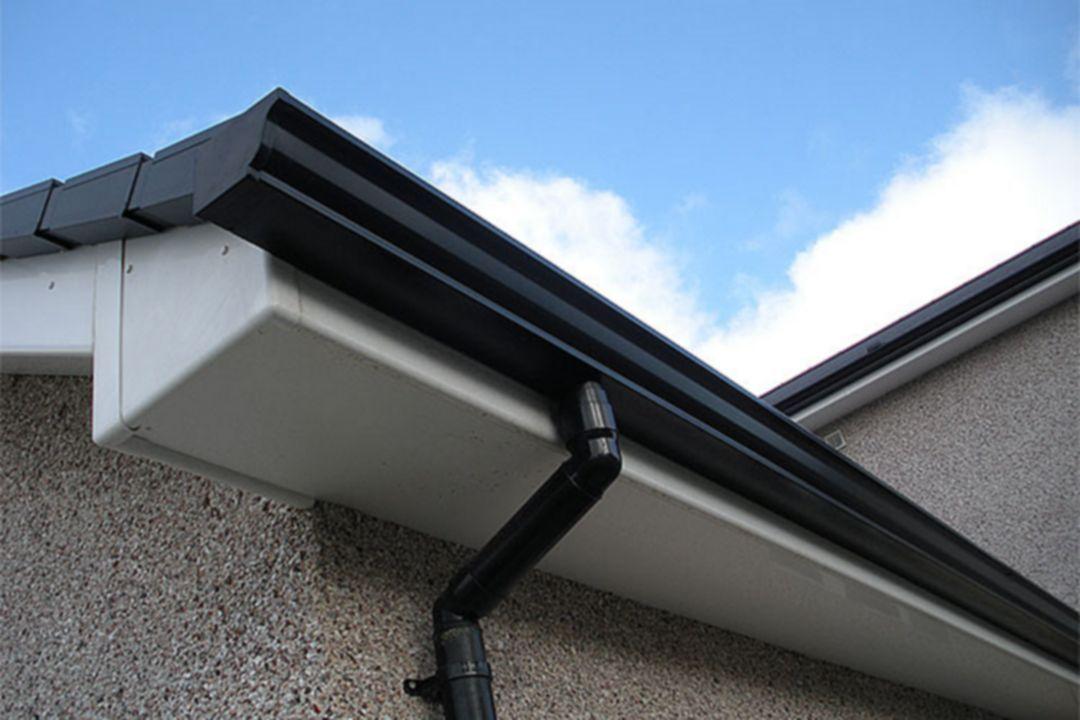 White Black Roof And Gutters Gutters Roof Restoration Elegant Homes