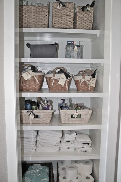 Turning A Closet Into Open Shelving Simple Bathroom