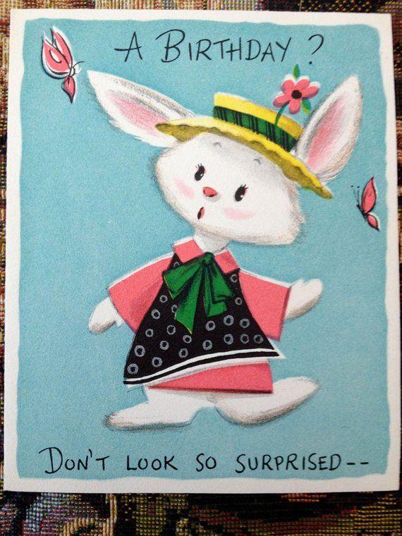 Vintage Birthday Greeting Card Free Shipping USA