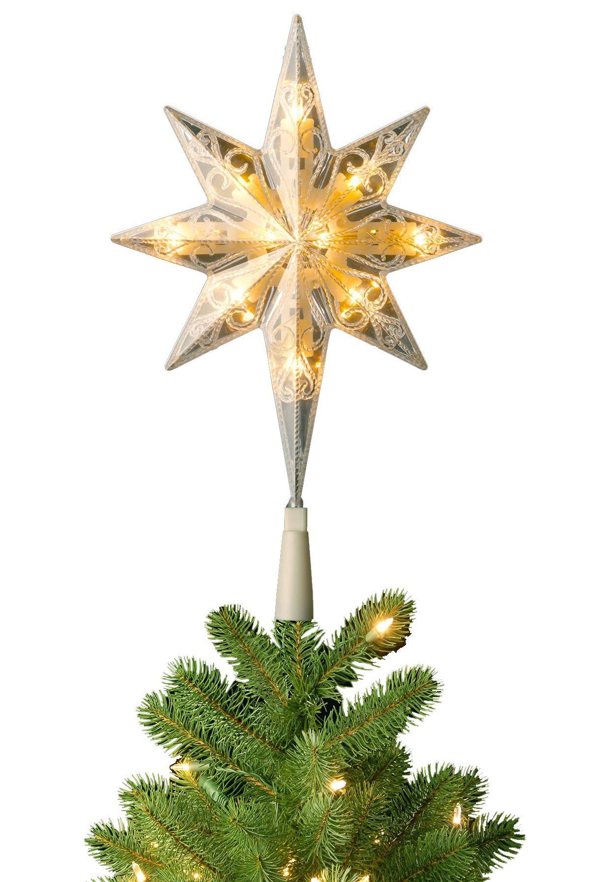 Pre Lit Bethlehem Star Christmas Tree Topper Soft White Star Tree Topper Christmas Tree Toppers Tree Toppers