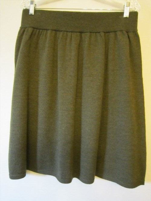 73.50$  Buy here - http://viuub.justgood.pw/vig/item.php?t=h7nx0327343 - NWOT Olive Green Eileen Fisher Merino Wool Knit Skirt * Medium 73.50$