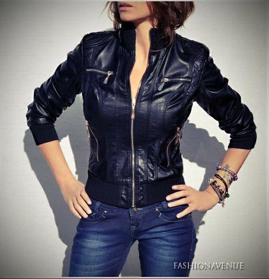 Kurtka Damska Bejsbolowka Pilotka Sciagacz Skora 51 W Sklepie Fashionavenue Pl Na Allegro Fashionavenue Pl Fashion Jackets Leather Jacket