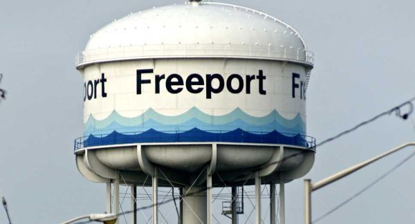 Our Pretty Tower In Color Freeport Water Tower Photo