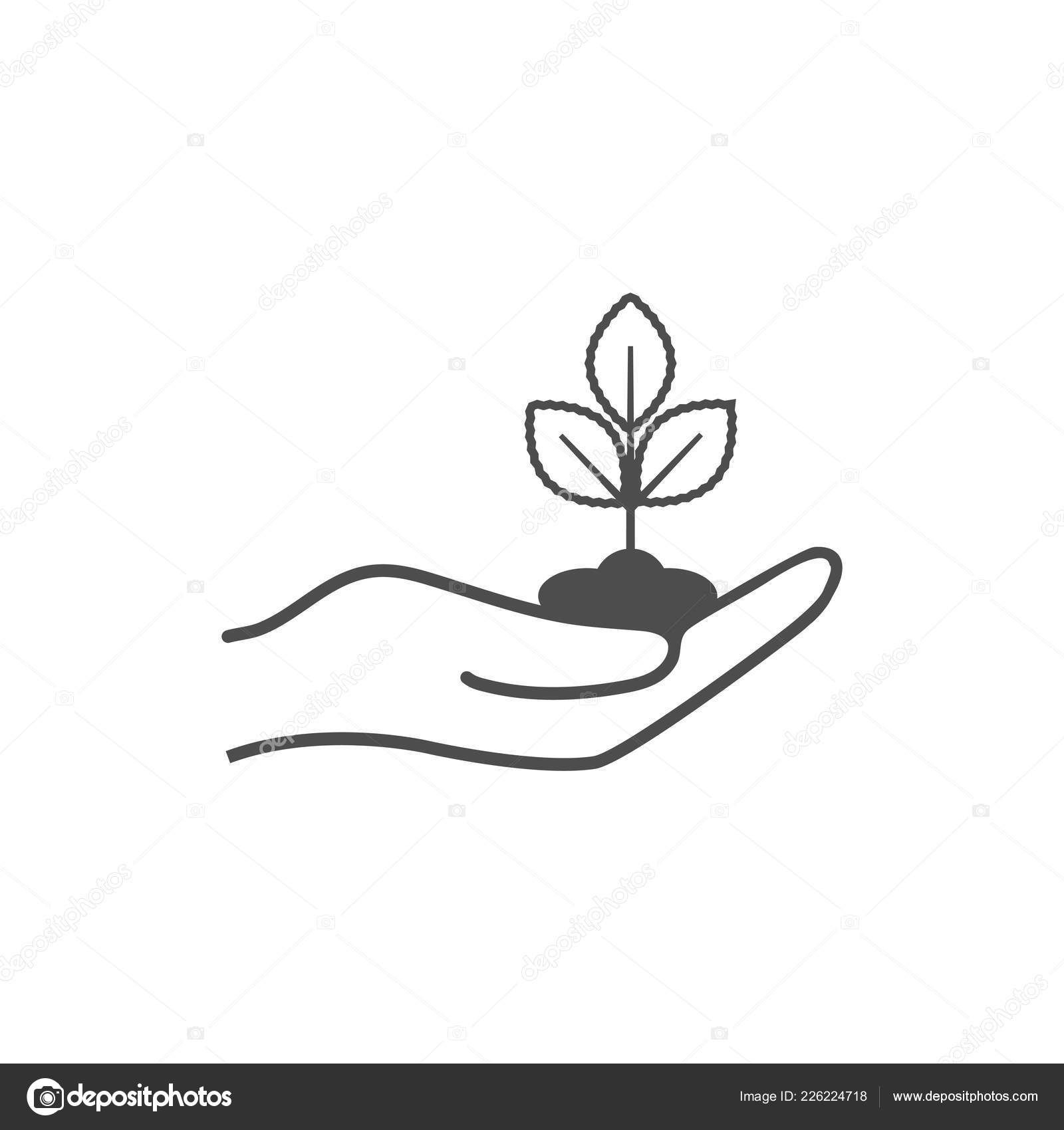 Download Sprout Hand Icon Plant Hand Stock Illustration Plant Icon Hands Icon Hand Illustration