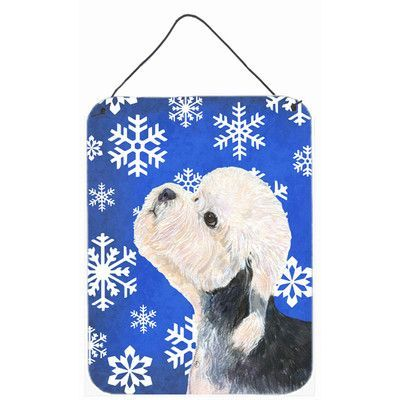 Caroline's Treasures Dandie Dinmont Terrier Winter Snowflakes Holiday by Suzanne Staines Graphic Art Plaque