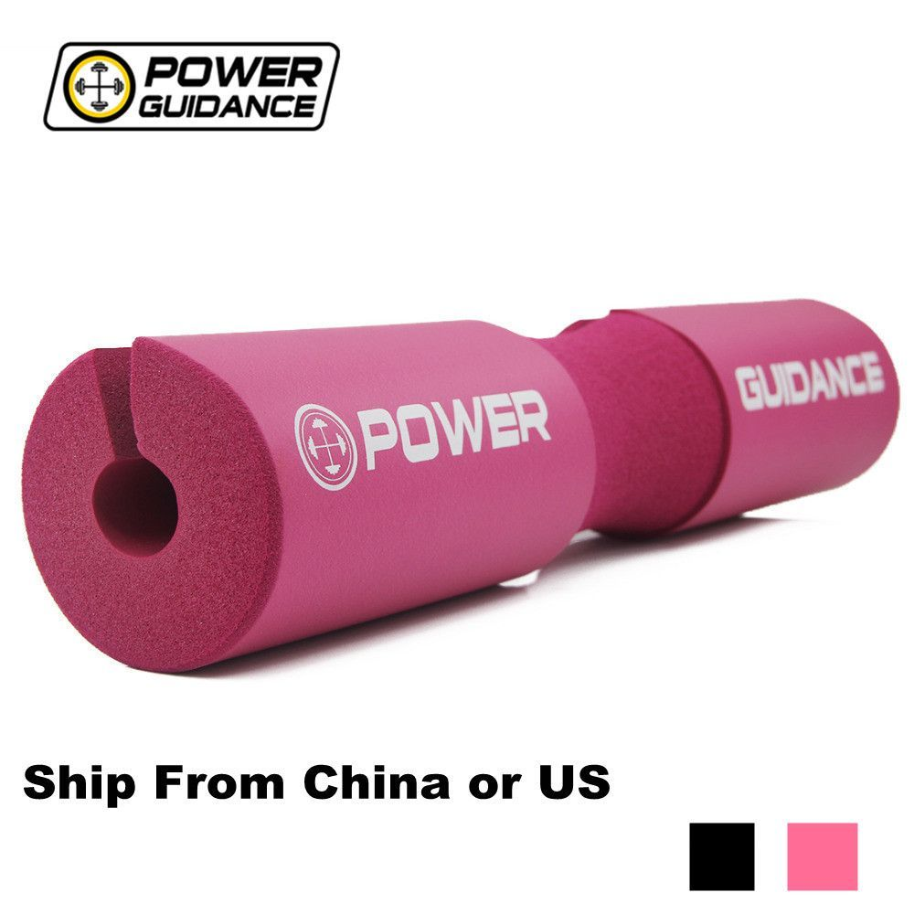 POWER GUIDANCE Barbell Squat Pad/Weight Lifting Cushioned Neck & Shoulder Protective Pad - for Olympic Bar, Hip Thrusts 45*9CM