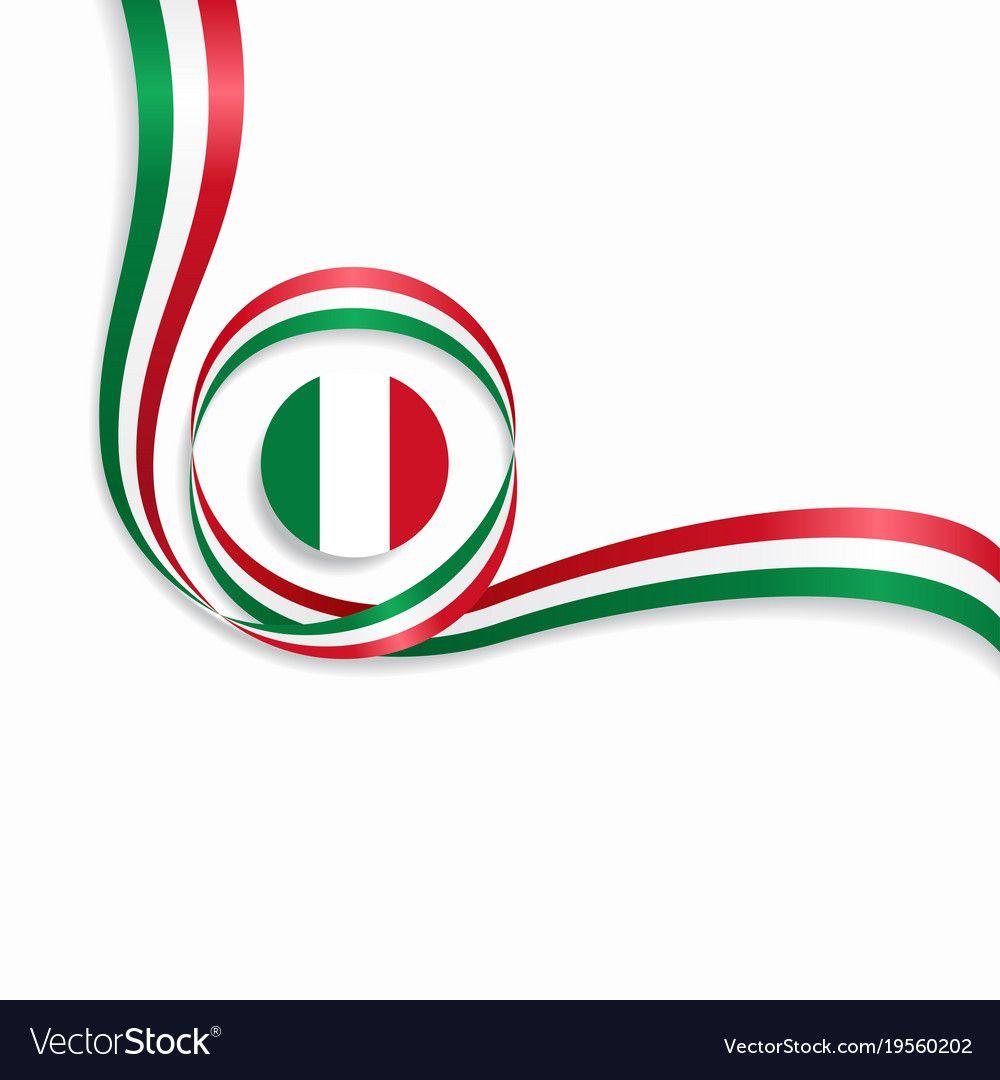 Italian Flag Wavy Abstract Background. Vector Illustration