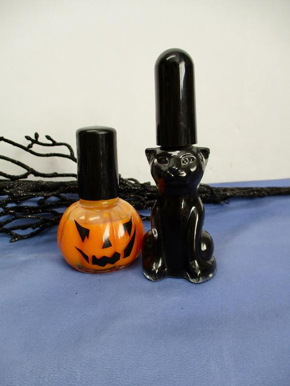 Halloween Nail Polish SHAPE BOTTLES Black Cat Bottle ...