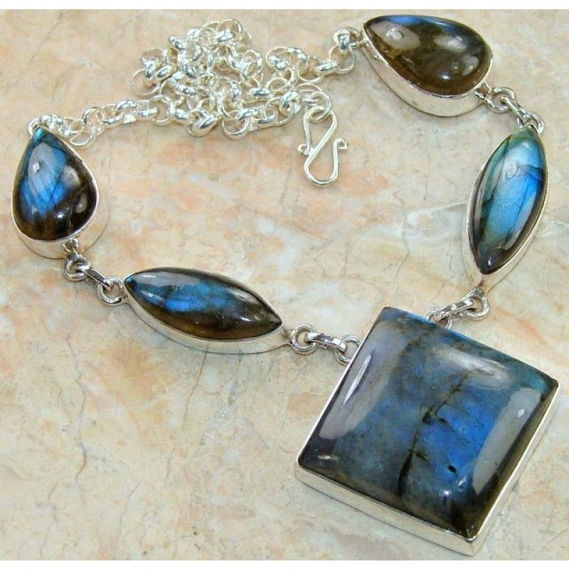 Love it- Labradorite and Silver Necklace
