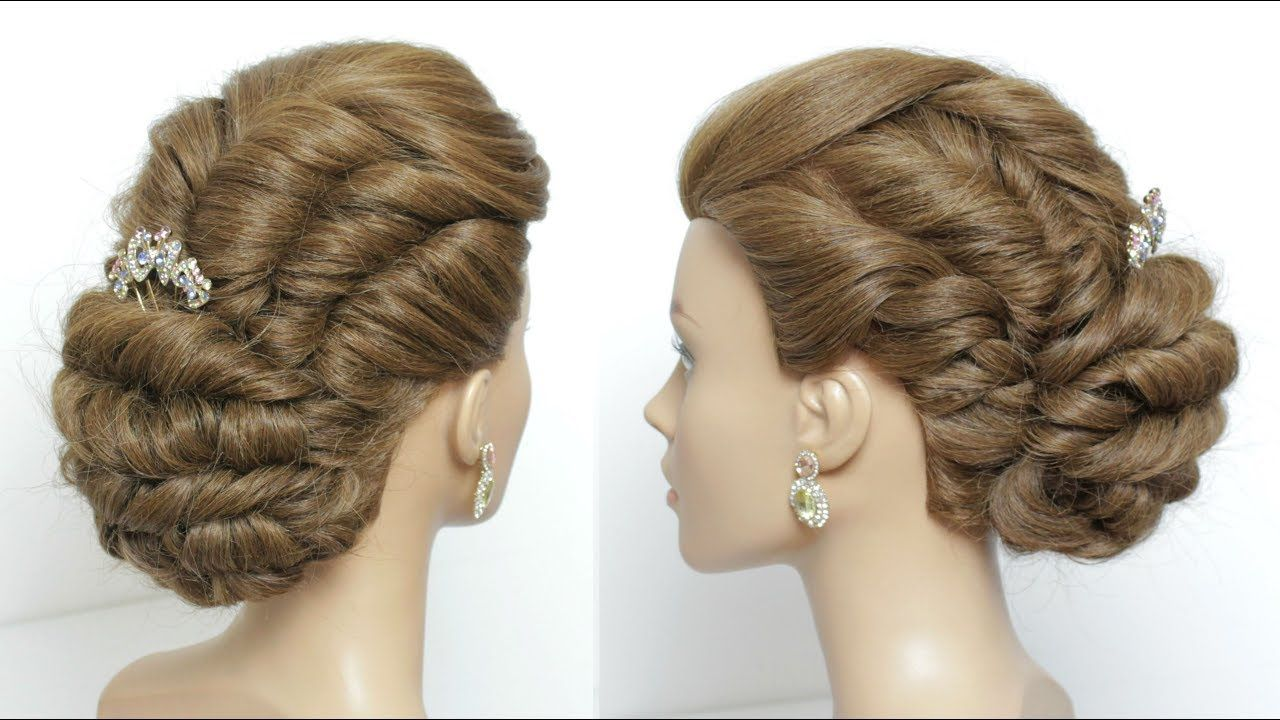 Easy twisted updo hairstyle for long hair tutorial hair styles in