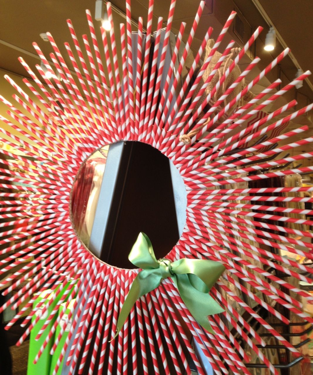 diy craft peppermint wreath (Kit available at Paper