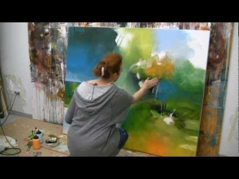 Abstract Painting Demonstration Abstrakte Acrylmalerei Bumblebee