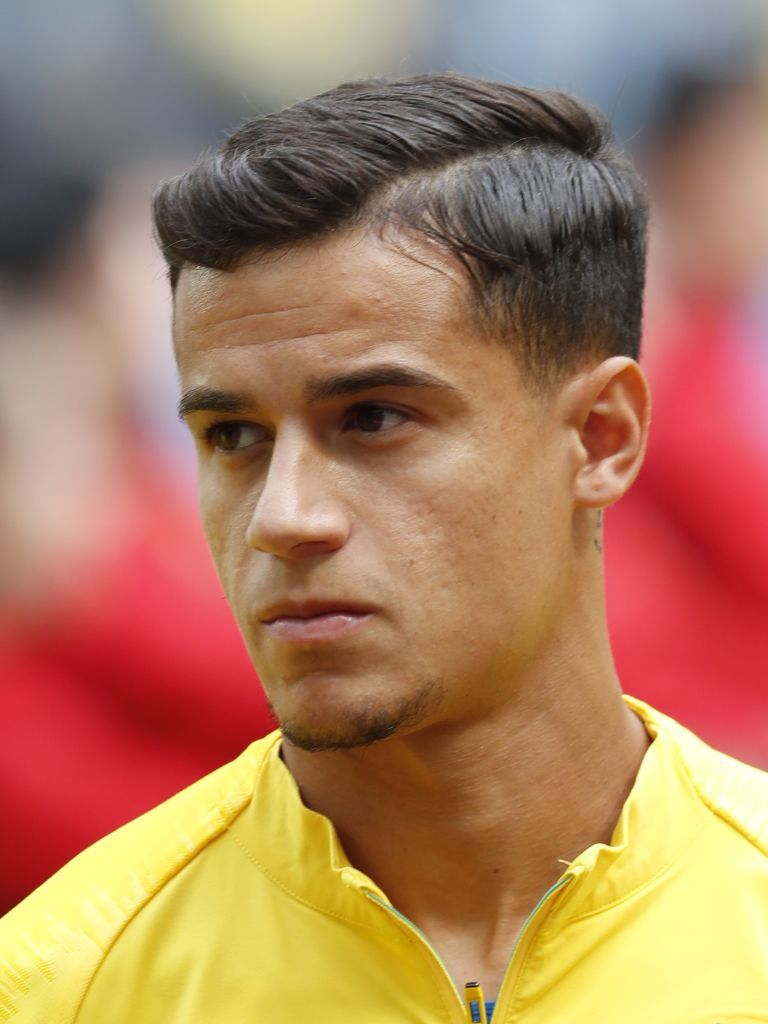 Philippe Coutinho Of Brazil During The 2018 Fifa World Cup Russia Philippe Coutinho Sports Hairstyles Fifa World Cup