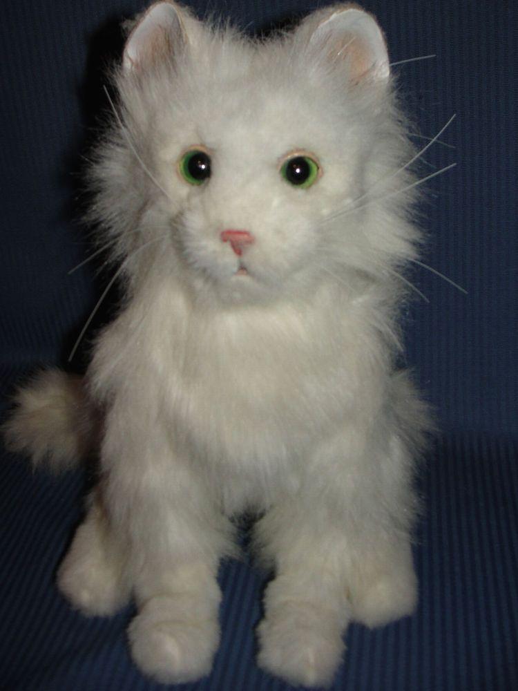 Rare Interactive Furreal Friends Sitting Lulu Kitty Cat Green Eyes