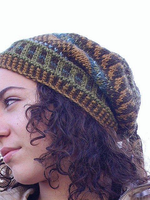 Floppy Fairisle Hat 6 by FatCatKnits, via Flickr