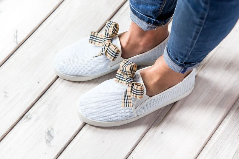 Tenisowki Slip On Biale Rozm 41 Rubberies Trampki Sneakers Shoes Keds