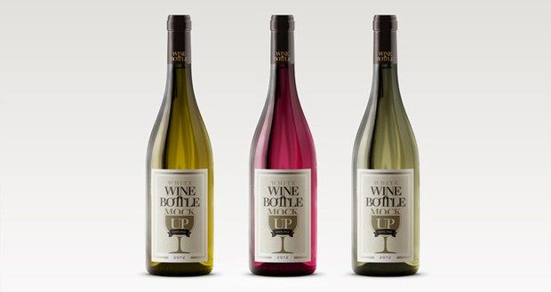 Psd White Wine Bottle Mockup Wine Label Template Free Wine Label Template Bottle Mockup