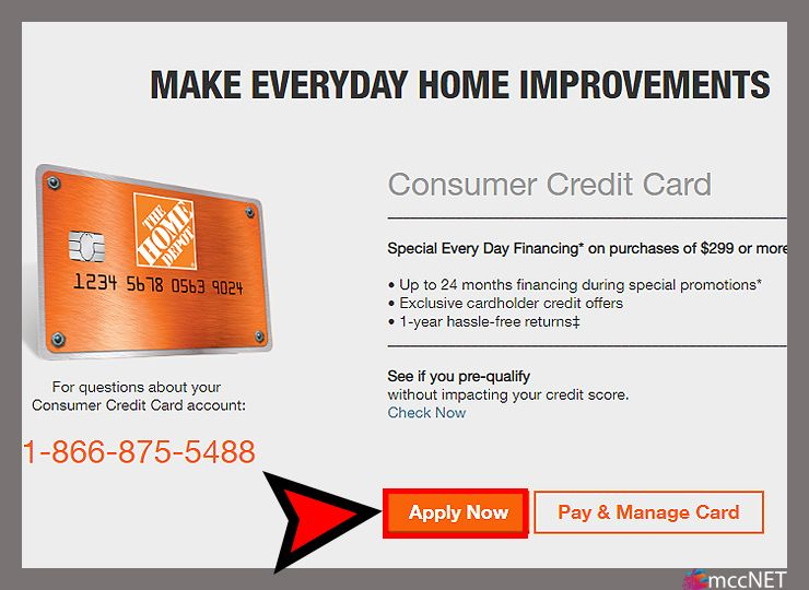 Apply for home depot credit card