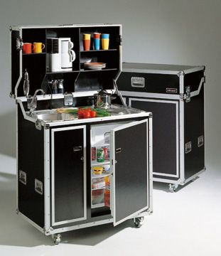 Kitcase Kitchen In Flightcase Furniture Space Saving Furniture Mini Kitchen