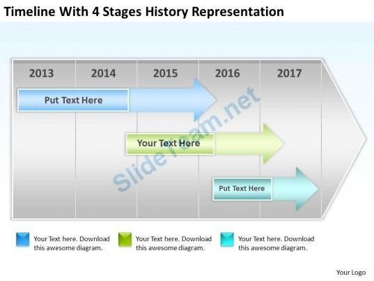 Business Process Flow Stages History Representation Powerpoint - history powerpoint template