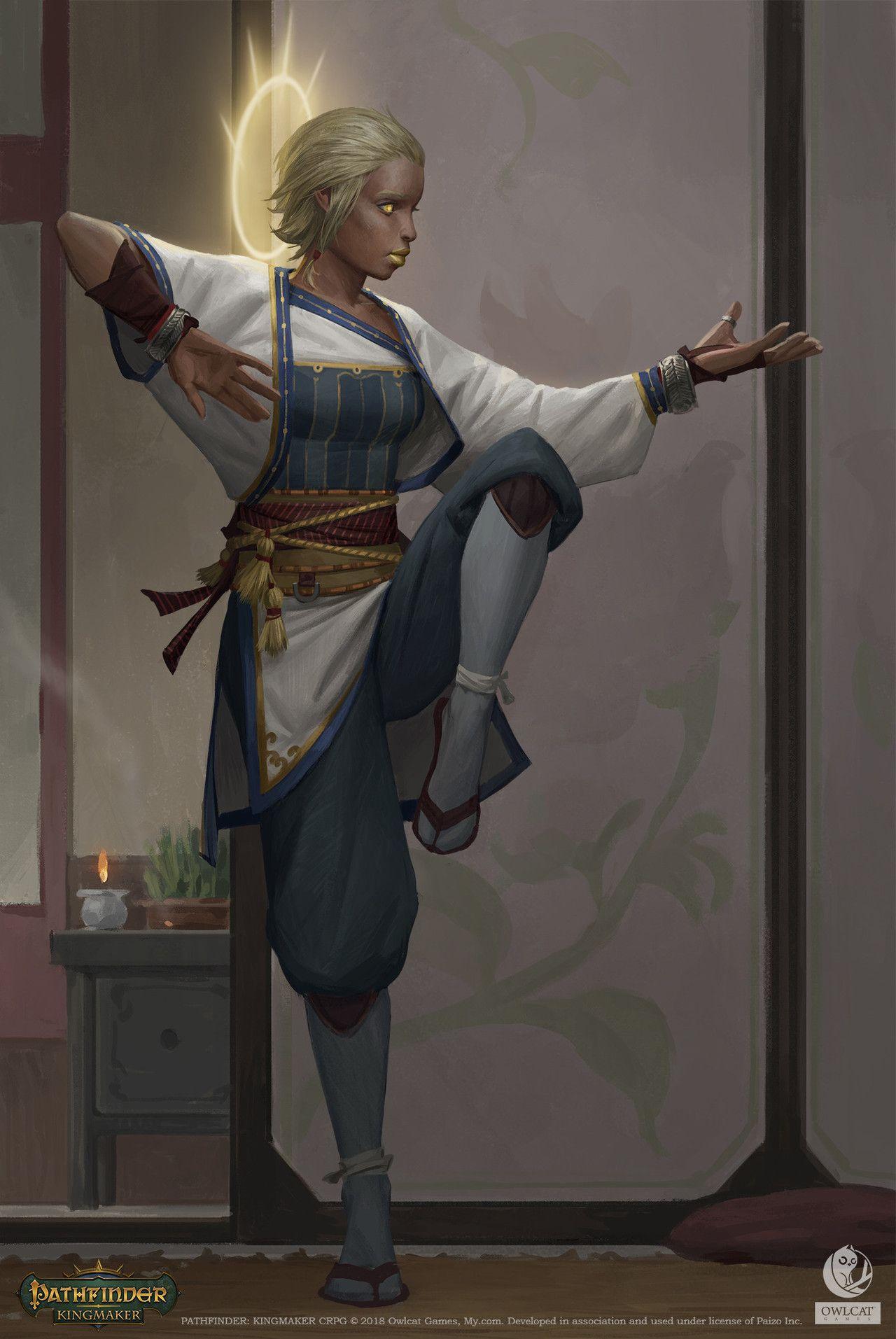Pathfinder: Kingmaker - Aasimar Monk by Akim Kaliberda | Fantastic