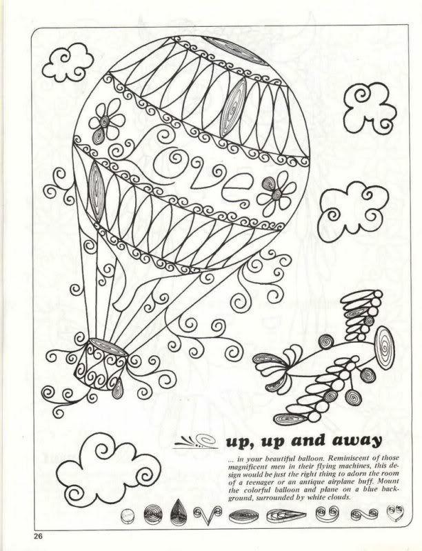 Resultado de imagen de air balloon quilling