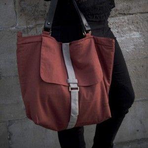 Large shopping natural canvas bag