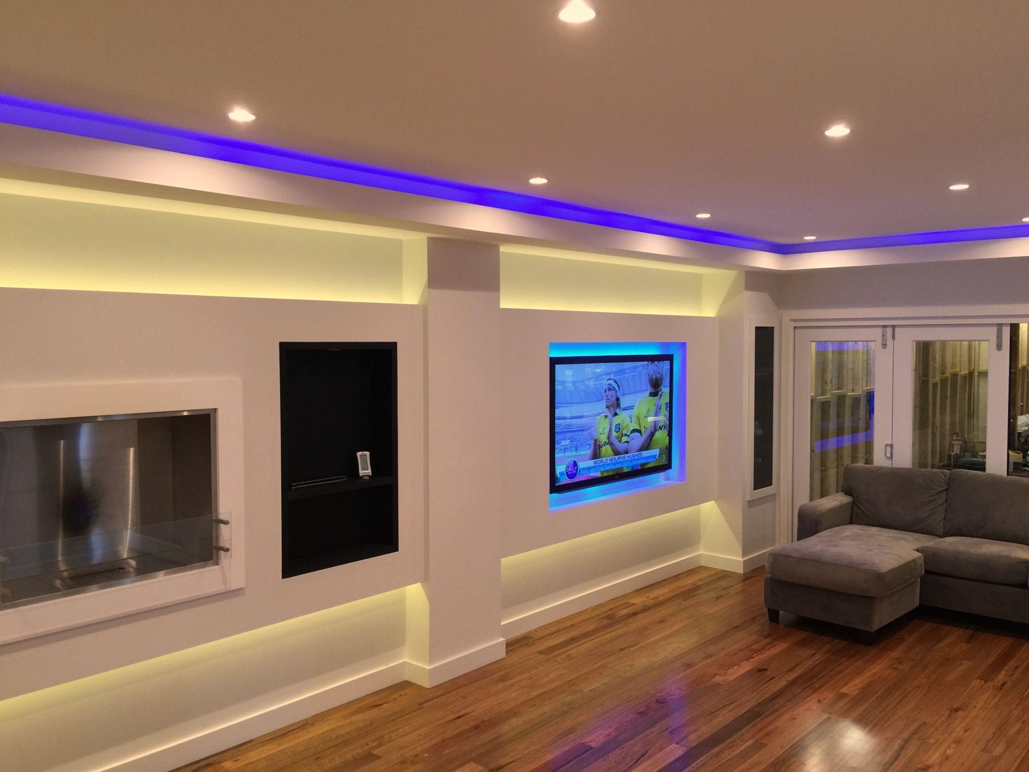 20 Living Room Led Lighting Modern Interior Paint Colors C