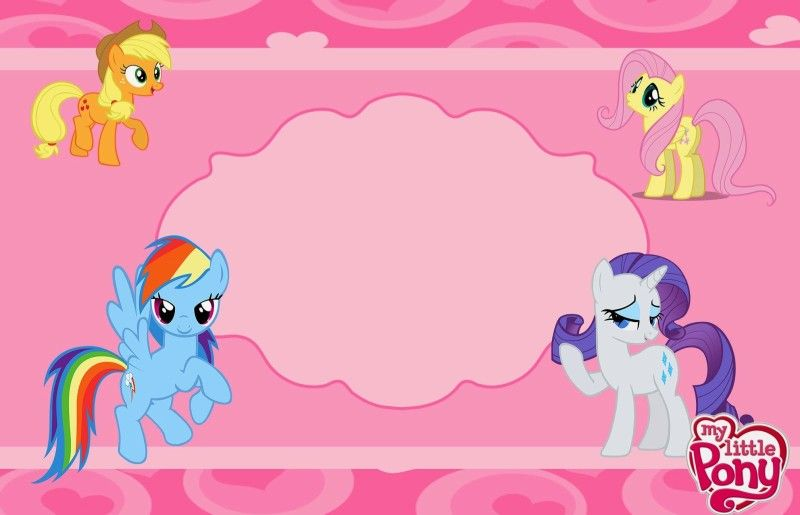 Free Invitation Template For Girls My Little Pony Little Pony Birthday Party My Little Pony Invitations My Little Pony Birthday