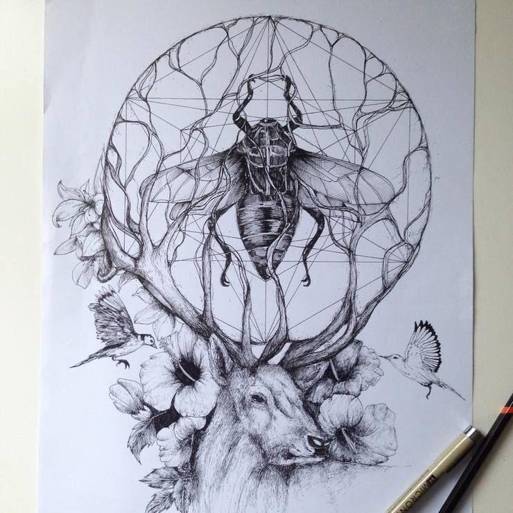Surreal Black Ink Illustrations By Alfred Basha