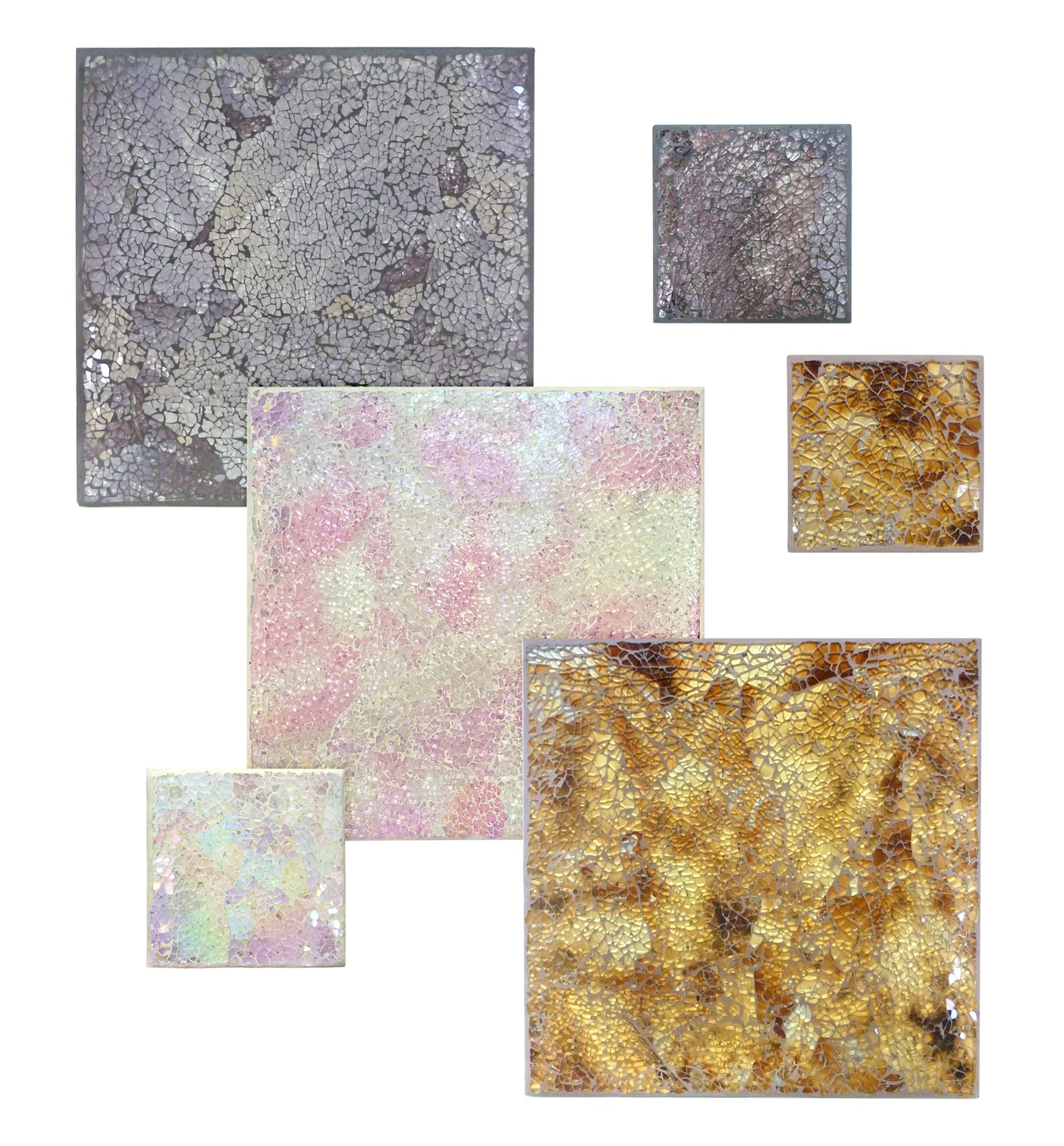 These sumptuous Crackle glass placemats and coasters from
